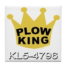 PLOW KING DARK Tile Coaster
