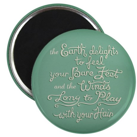 "The Earth Delights 2.25"" Magnet (100 pack)"