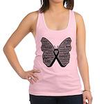 Butterfly Melanoma Ribbon Racerback Tank Top