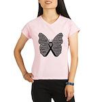 Butterfly Melanoma Ribbon Performance Dry T-Shirt