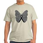 Butterfly Melanoma Ribbon Light T-Shirt