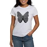 Butterfly Melanoma Ribbon Women's T-Shirt