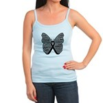 Butterfly Melanoma Ribbon Jr. Spaghetti Tank