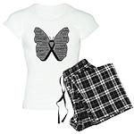 Butterfly Melanoma Ribbon Women's Light Pajamas