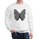 Butterfly Melanoma Ribbon Sweatshirt
