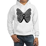 Butterfly Melanoma Ribbon Hooded Sweatshirt