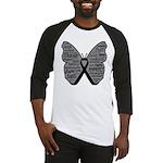 Butterfly Melanoma Ribbon Baseball Jersey