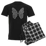 Butterfly Melanoma Ribbon Men's Dark Pajamas