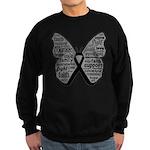 Butterfly Melanoma Ribbon Sweatshirt (dark)