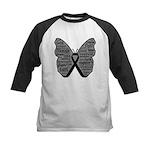Butterfly Melanoma Ribbon Kids Baseball Jersey