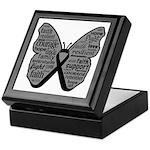 Butterfly Melanoma Ribbon Keepsake Box