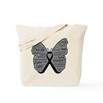 Butterfly Melanoma Ribbon Tote Bag