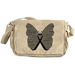 Butterfly Melanoma Ribbon Messenger Bag