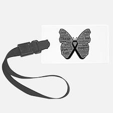 Butterfly Melanoma Ribbon Luggage Tag