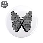 Butterfly Melanoma Ribbon 3.5