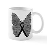 Butterfly Melanoma Ribbon Mug