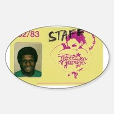 larry garage ID Sticker (Oval)