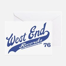 wes_baseball_blue_white Greeting Card