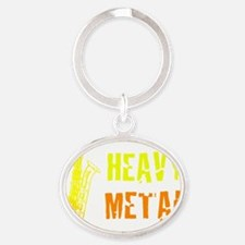 Heavy Metal Oval Keychain