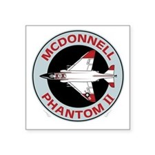 "McDonnell_PhantomII_Blk Square Sticker 3"" x 3"""