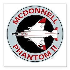 "McDonnell_PhantomII_Blk Square Car Magnet 3"" x 3"""