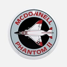 McDonnell_PhantomII_Blk Round Ornament