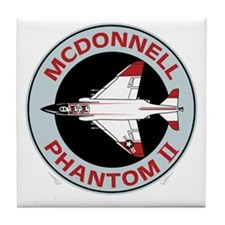 McDonnell_PhantomII_Blk Tile Coaster