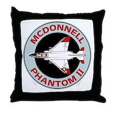 McDonnell_PhantomII_Blk Throw Pillow