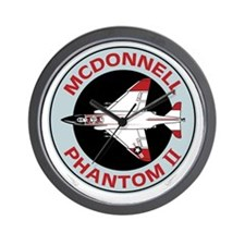 McDonnell_PhantomII_Blk Wall Clock