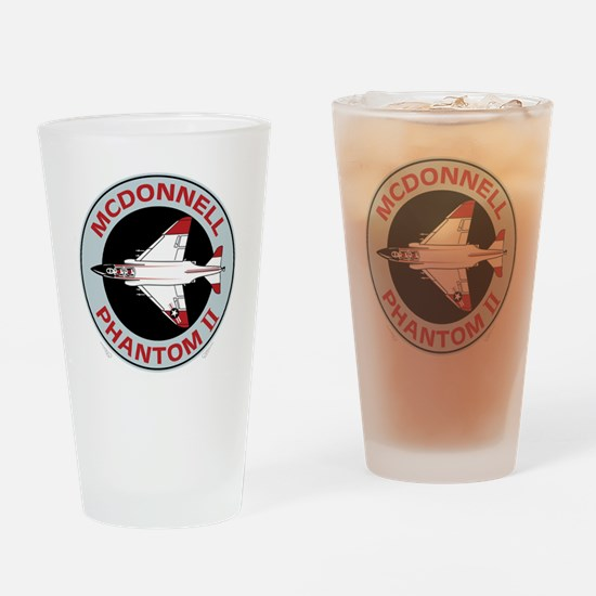 McDonnell_PhantomII_Blk Drinking Glass