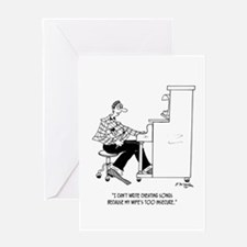Can't Write Cheating Songs Greeting Card