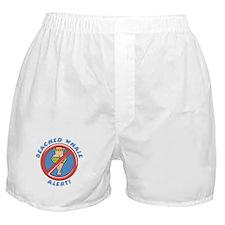 Beached Whale Alert (Blue) Boxer Shorts