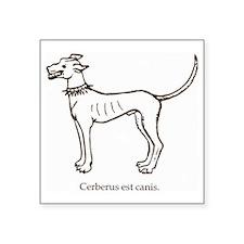 """Cerberus2 Square Sticker 3"""" x 3"""""""