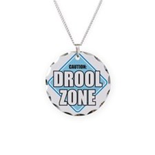 DROOL ZONE 7X7 blue Necklace Circle Charm