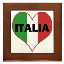Peace Love Italy Framed Tile