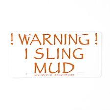 mudslinger-1800 Aluminum License Plate