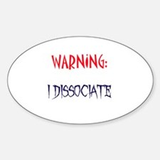 DID warning Sticker (Oval)