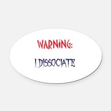 DID warning Oval Car Magnet
