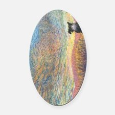 In the colour of evening Oval Car Magnet
