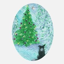 When Christmas trees were tall Oval Ornament