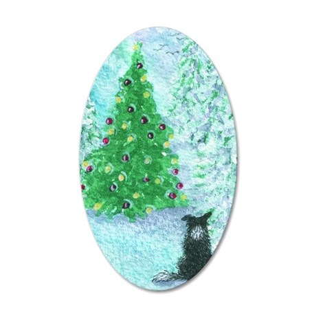 When Christmas trees were ta 35x21 Oval Wall Decal