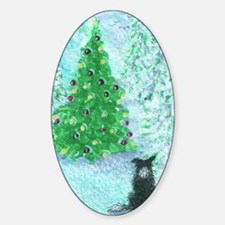 When Christmas trees were tall Sticker (Oval)
