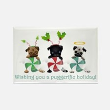 Have A Puggerific Holiday Rectangle Magnet
