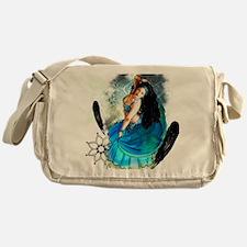 CAFEPRESSblue Messenger Bag