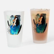 CAFEPRESSblue Drinking Glass