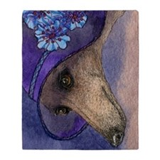 journal whippet of mystery Throw Blanket