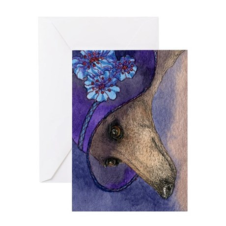 journal whippet of mystery Greeting Card