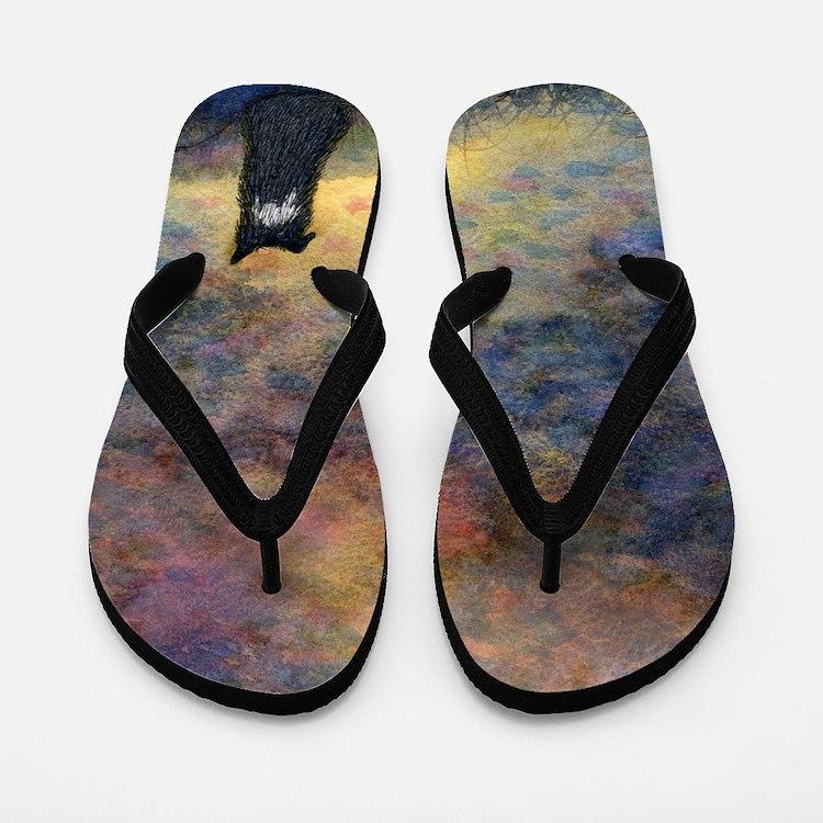New day dawning Flip Flops