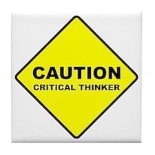 2-caution Tile Coaster