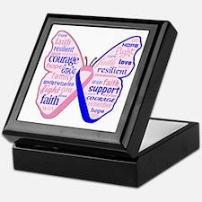 Butterfly Male Breast Cancer Keepsake Box